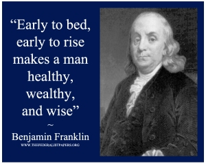 Benajmin-Franklin-Poster-Early-to-bed
